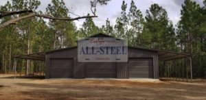 One of California All Steel's metal buildings that displays all the benefits of steel buildings for property.