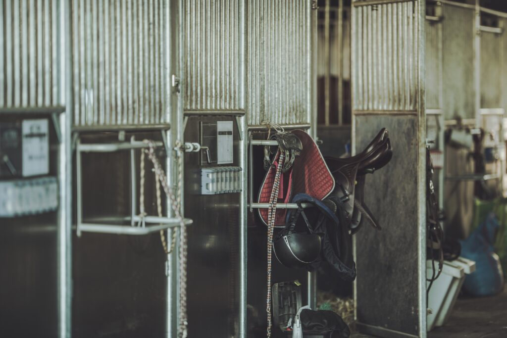 Equestrian facility and farming equipment