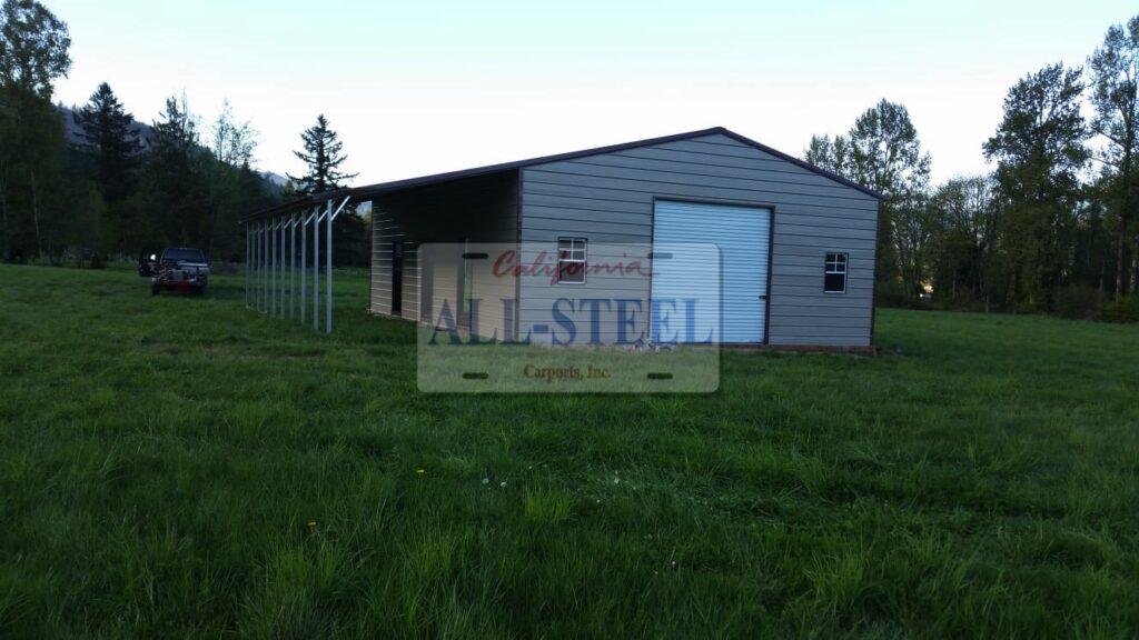 California All Steel metal farm building