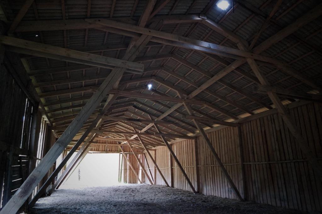 Strong, durable metal horse barn interior